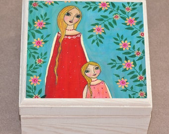 Mother and Daughter Jewelry Box, Trinket Box, Gift Box