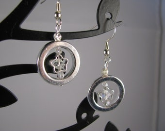 Captured Stars! Silver stars with sparkling swarovksy crystals encircled with silver halo!