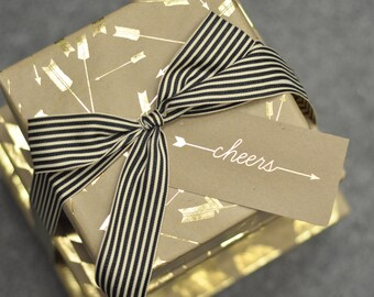 Kraft Gold Foil Wrapping Paper