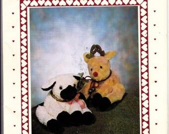 OOP New 1984 Craft Patch Finders Keepers pattern #103 Lammie Loot and Duggie Deer toy paterns