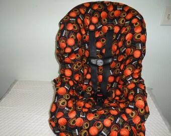Basket balls print toddler car seat cover