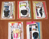 LAST TWO (sale!) - Vintage and New modern collage kit - 1 mini set of paper stock