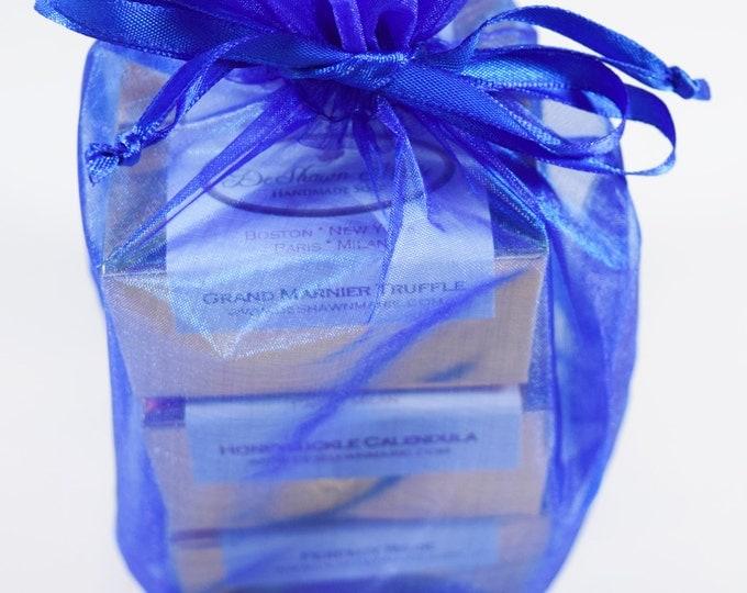 SOAP GIFT - 6 handmade soap samples, vegan soap, soap gift set, christmas gift, holiday gift