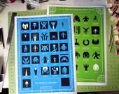 18x24 The Mythical Alphabet & Cryptozoology Poster Set