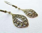 Handmade Small Moroccan Brass Drop Earrings