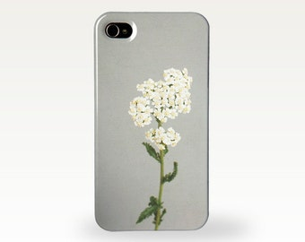 Floral Phone Case for iPhone 4/4s, 5/5s, 5c, 6, 6 Plus and Samsung Galaxy S3, S4 - White Flowers