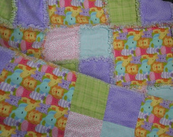 Animal Quackers Rag Quilt