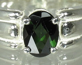 Natural Green Tourmaline 1.19 carats Handset in .925 Sterling Ring   NOW  on  SALE  -  Fast Free Shipping