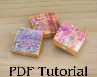 Chunky Square Paper Bead Tutorial PDF