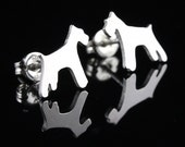 Schnauzer Sterling Silver Silhouette Earring Studs