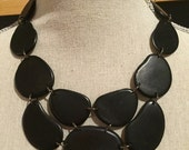Black statement necklace-Other Colors Avail