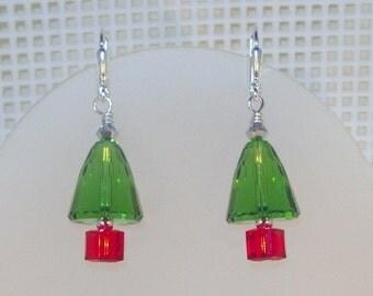 Swarovski Crystal Christmas Earrings