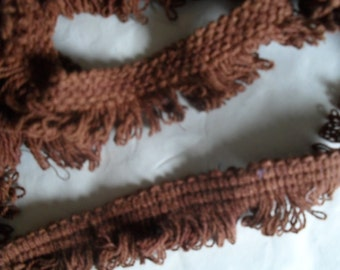 Fringe Brown looped 1  1/4 inch in 2 lengths