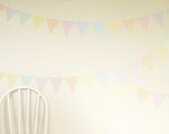Sherbet Fizz triangles wall decal – fabric wall stickers