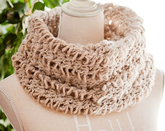 Crochet PATTERN - Emma's Color Block Cowl