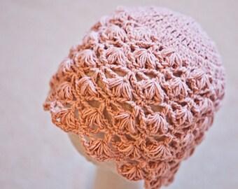 Crochet PATTERN - Flower Petal Beanie