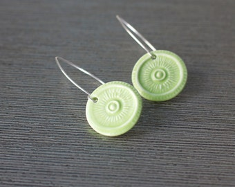 round porcelain earrings
