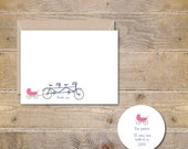 Baby Thank You Cards . Baby Shower Thank You Cards . Baby Shower Thank You Notes . Baby Thank You Notes - Baby Makes Three