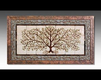 Handmade Ceramic Tile Tree Of Life Tile Mural By Somitileworks