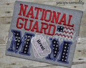 National Guard MOM t shirt--Armed forces--Army--Air force--Marines--aunt-uncle-grandma-grandpa-dad--coach