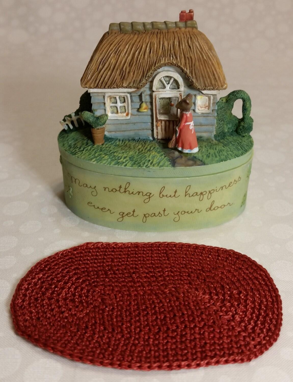 Star Wars Crochet Doll Pattern : Fairy House MINIATURE hand crocheted area rug dollhouse floor