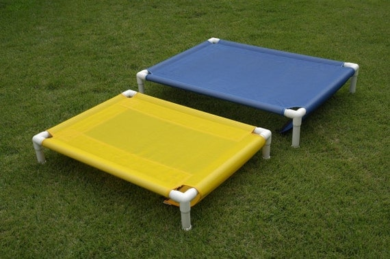 Orthopedic dog bed pvc frame bed cot cat bed outdoor mesh for Pvc cat bed