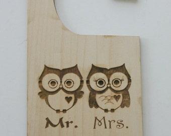 Personalized Maple Door Hanger Laser Engraved Wood Sign