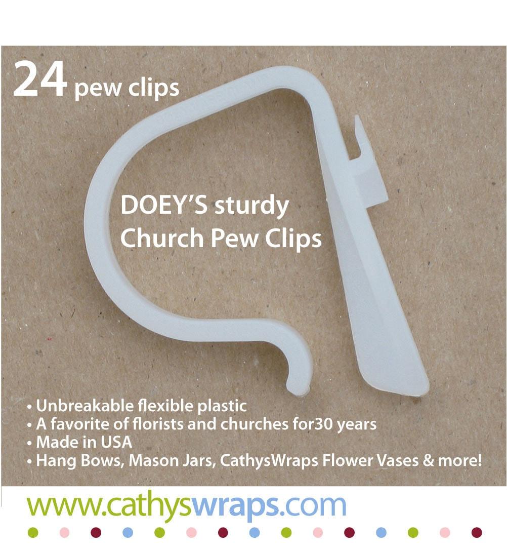 Wedding Ideas For Church Pews: Wedding Pew Clips Wedding Ceremony Church Pew Decoration