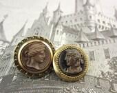 antique cameo buttons