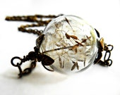 Dandelion Necklace with Real Dandelion Seeds