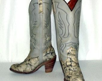 Vintage Grey Miss Capezio womens cowboy boots size 6.5 M - high heels