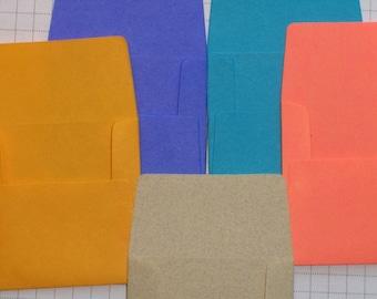 50 Mini Envelopes in five colors