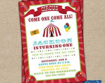 Carnival Birthday Invitation - Circus Birthday Invitation, printable, digital file {BD5}