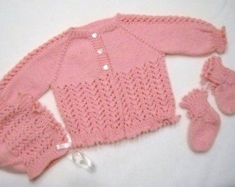 Lacey Pink Sweater Set 3 Months