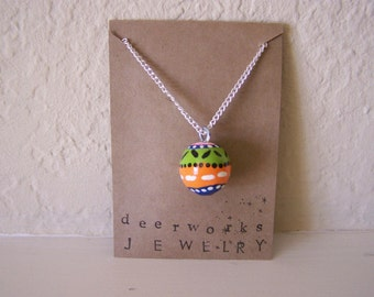 spots and stripes colourful necklace