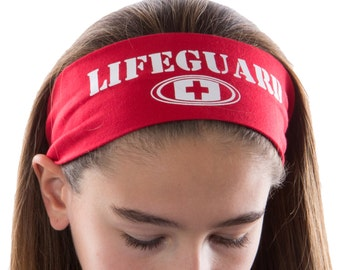 Lifeguard Cotton Stretch Headband - Funny Girl Designs