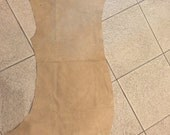 Beige suede leather -  a 4 sft hide