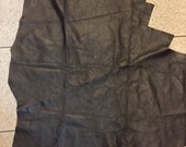 Soft brownlambskin leather - a 4 square foot cutting