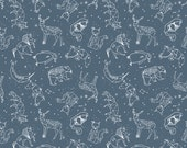 Origami Constellations (Paynes Grey) Crib Sheets, Changing Pad Covers, Indie Fabric Printed Just for You