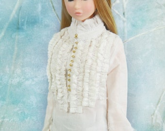 jiajiadoll- white laced shirts fit momoko or misaki or blythe or azone