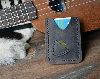 New!!!Hand Stitch Men Card Holder for Guitarist