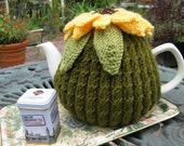 Large Sunflower Teacosy, hand knitted