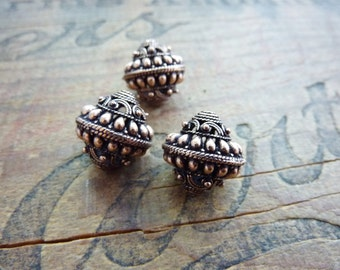 Bali Bead Copper Filigree Beads (2) IC429