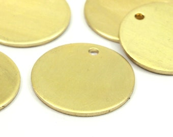 Raw Brass Discs, 20 Raw Brass Stamping Tags (20mm) B0105
