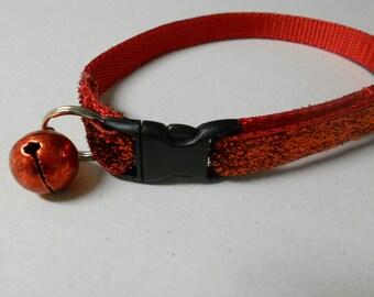Red Glitter Cat or Kitten Safety Collar