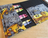 Coloring Wallet - Catapillar Machines, Crayons and Paper Included