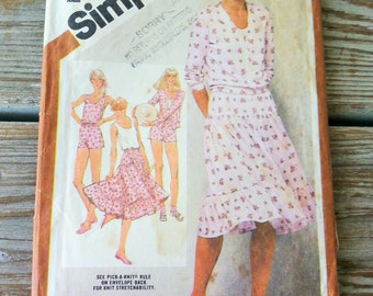 ON SALE VTG Simplicity 9911 Misses Cardigan Jacket, Tank Top, Skirt and Shorts Pattern, Size 10-12-14 Uncut
