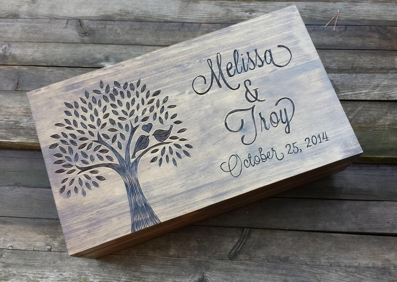 Personalized Keepsake Box Memory Box Wedding Wine Box