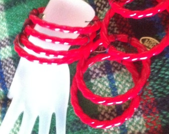 CURVED and LUCITE BANGLES