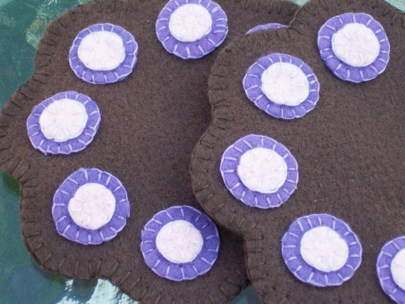 Felt penny rug coasters by tigerhouse on etsy for Penny coasters